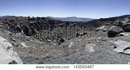 Panoramic of Santorini volcano new kameli - Greece
