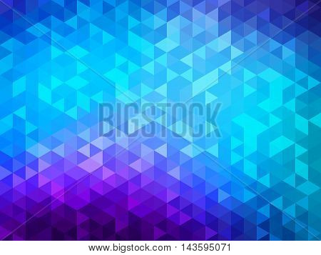 Abstract background - Colorful Geometrical shapes, Polygonal texture for webdesign - Blue, purple colors