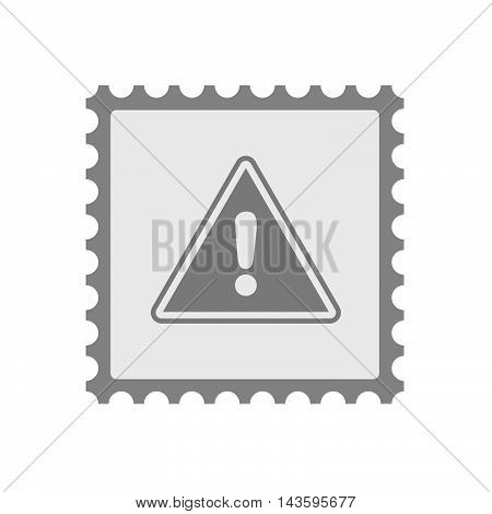 Isolated Mail Stamp Icon With A Warning Signal