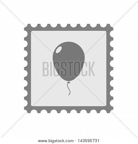 Isolated Mail Stamp Icon With A Balloon