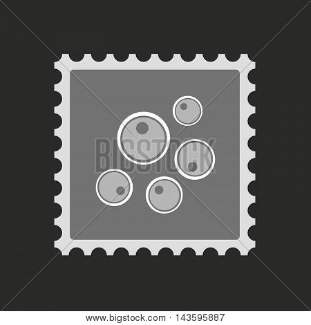 Isolated Mail Stamp Icon With Oocytes