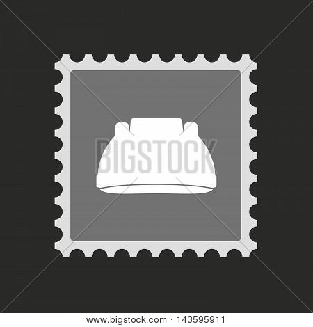Isolated Mail Stamp Icon With A Work Helmet