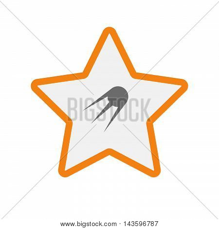 Isolated Line Art Star Icon With A Telescope
