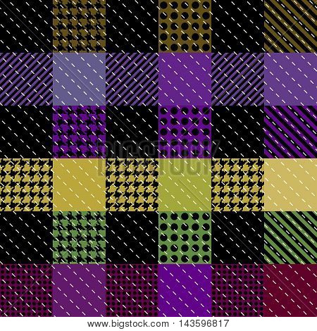 Seamless background pattern. Abstract violet plaid pattern.