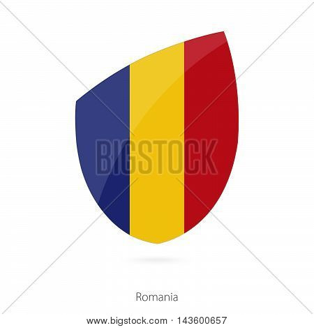 Flag Of Romania. Romanian Rugby Flag.