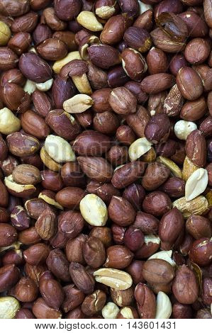 background nuts peanuts close up shot Mixed Salted Nutty