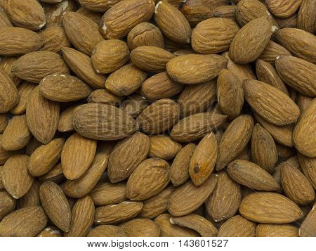 background almond nuts close - up shot