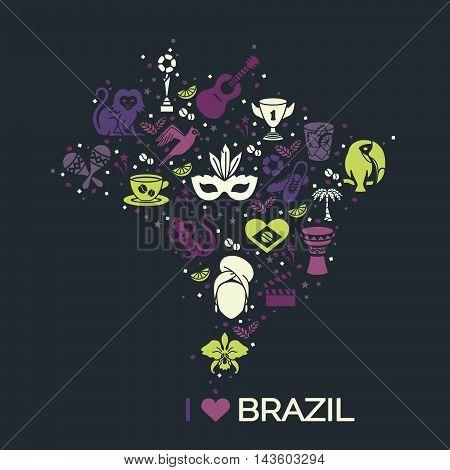 Brazilian thematic print. Vector illustration EPS 10