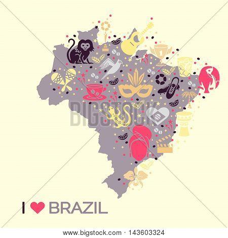 Brazilian thematic print 4. Vector illustration EPS 10