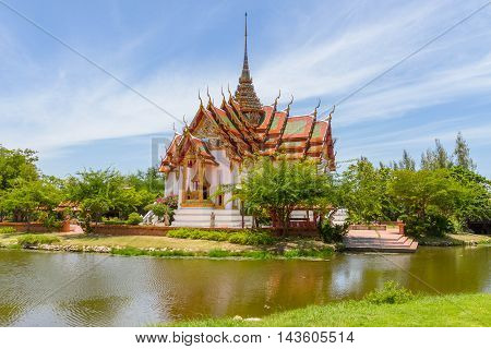 The Dusit Maha Prasat in the Ancient Siam, Thailand