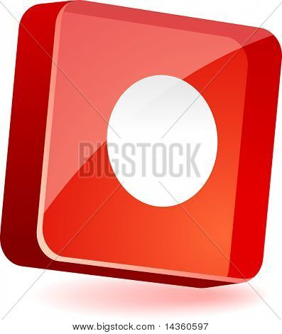 Rec 3d icon. Vector illustration.
