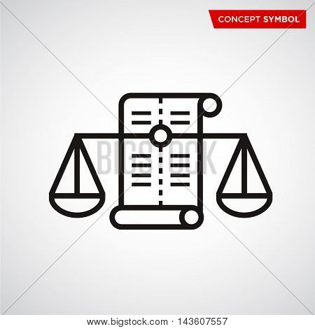Scale of justice symbol concept icon. Law scales