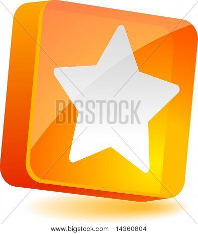 Star 3d icon. Vector illustration.