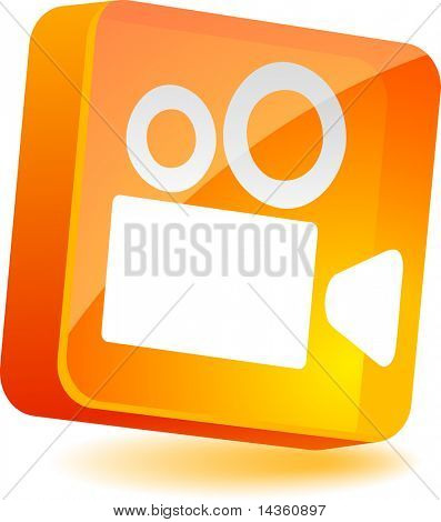 Cinema 3d icon. Vector illustration.