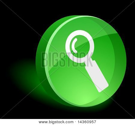 Search 3d icon. Vector illustration.