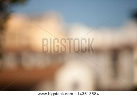 Houses in a city neighborhood to use unfocused background