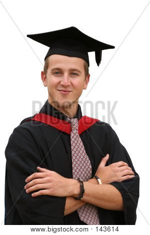 Graduation Student - Isolated
