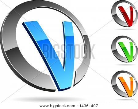 "Letter ""V"" symbol. Vector illustration."