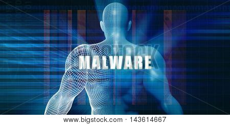 Malware as a Futuristic Concept Abstract Background 3D Illustration Render