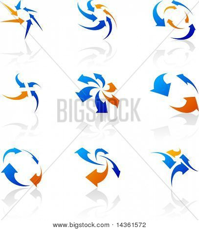 Abstract company symbols. Vector illustration.