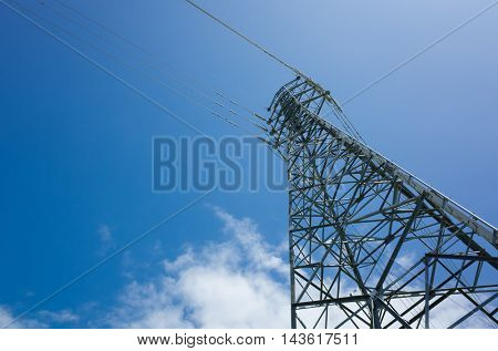 electronic tower under the sky