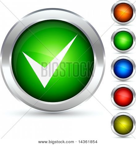 Validation detailed button. Vector illustration.