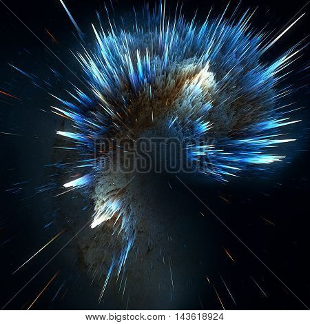 Colorful Galaxy Clouds And Big Bang Abstract Star Texture