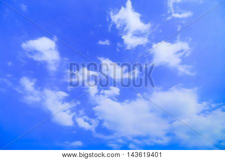 Material obtained by photographing the blue sky and clouds.