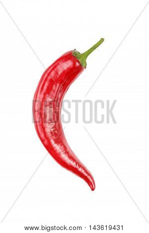 Red chili peppers on a white background isolation