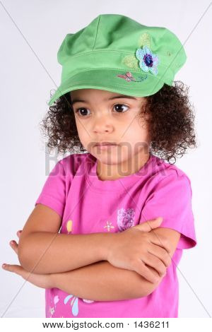 Girl In Green Hat
