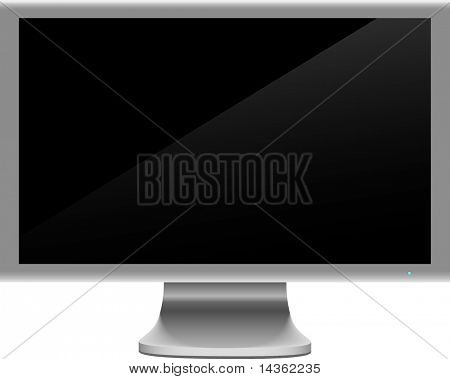 Realistic widescreen lcd. Vector illustration.