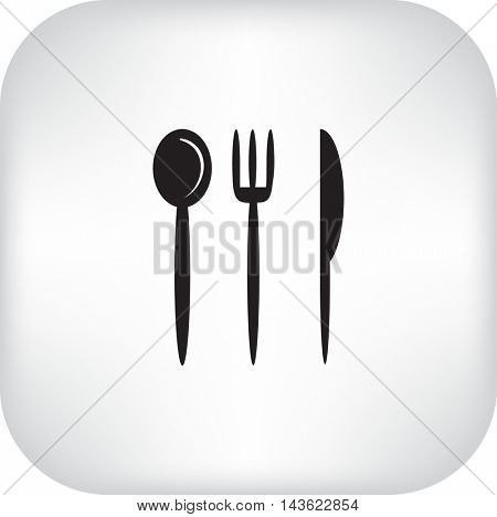 Flat icon. Fork Spoon Knife.