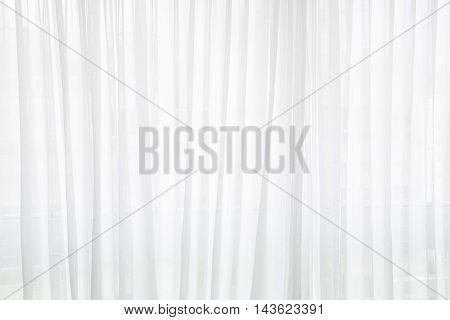 Beautiful White curtain. Good idea for blurry backgrounds.