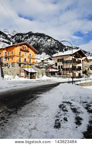 29 december 2014-bionaz-italy-the beautiful mountains around bionaz in Valle d'Aosta