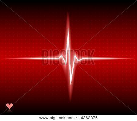 Rotes Herz Bär. Vektor-Illustration.