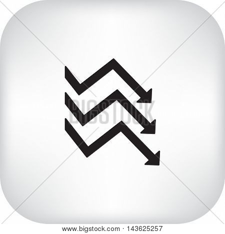 Flat icon. Business graphics.