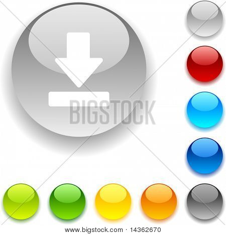 Download shiny button. Vector illustration.