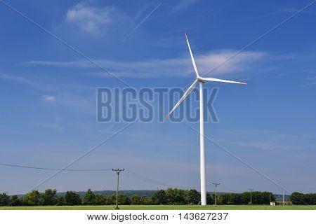 Eco Power. Wind Turbine For Alternative Energy.