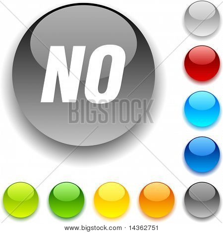 No shiny button. Vector illustration.