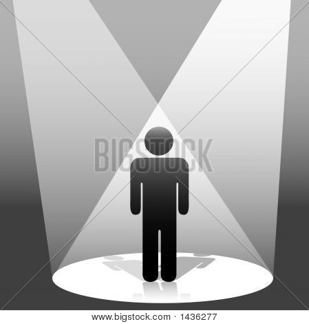 Spotlit Symbol Person