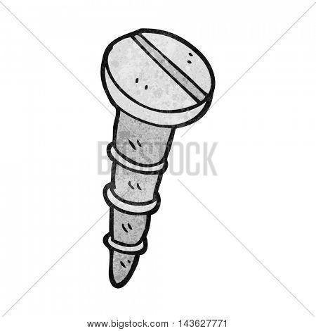 freehand textured cartoon screw