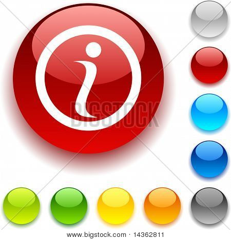 Info shiny button. Vector illustration.