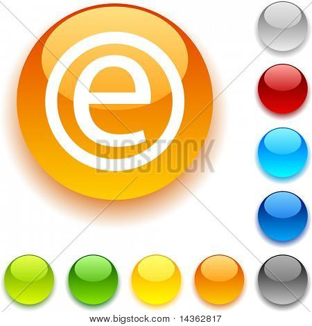 Enternet shiny button. Vector illustration.