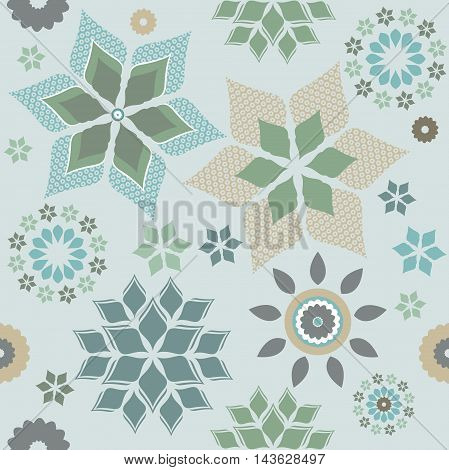Seamless pattern with elegant and stylish flowers. Stylish template can be used for greeting cards, linen, design fabric and more designs.