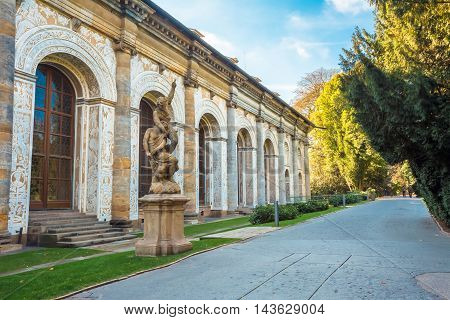 Ball Game Hall in the Royal Garden in Prague, Czech Republic. First built by in mid 16th century.