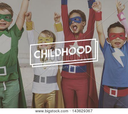 Team Kids Heroes Aspiration Goals Concept