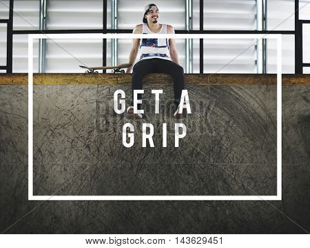 Eat Sleep Skate Ride Along Extreme Sports Get a Grip Concept