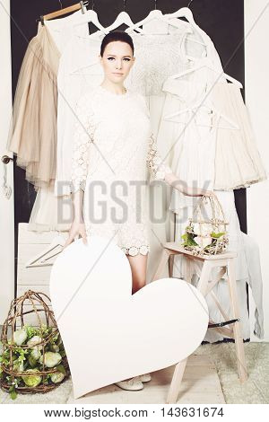 Sale Concept. Beautiful Woman Shopping. Girl Likes Sale