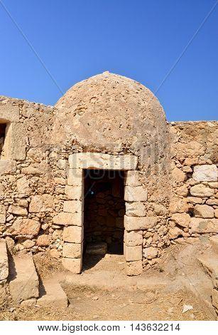 Rethymno city Greece Fortezza fortress landmark detail