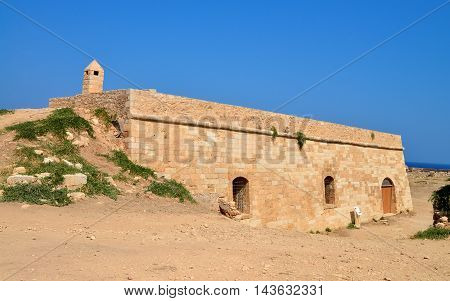 Rethymno city Greece Fortezza fortress cavalier landmark architecture